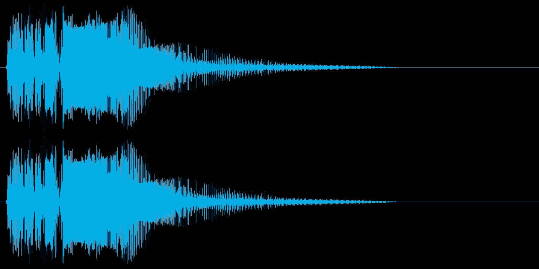 バキューーン(ショット音、強め)の再生済みの波形