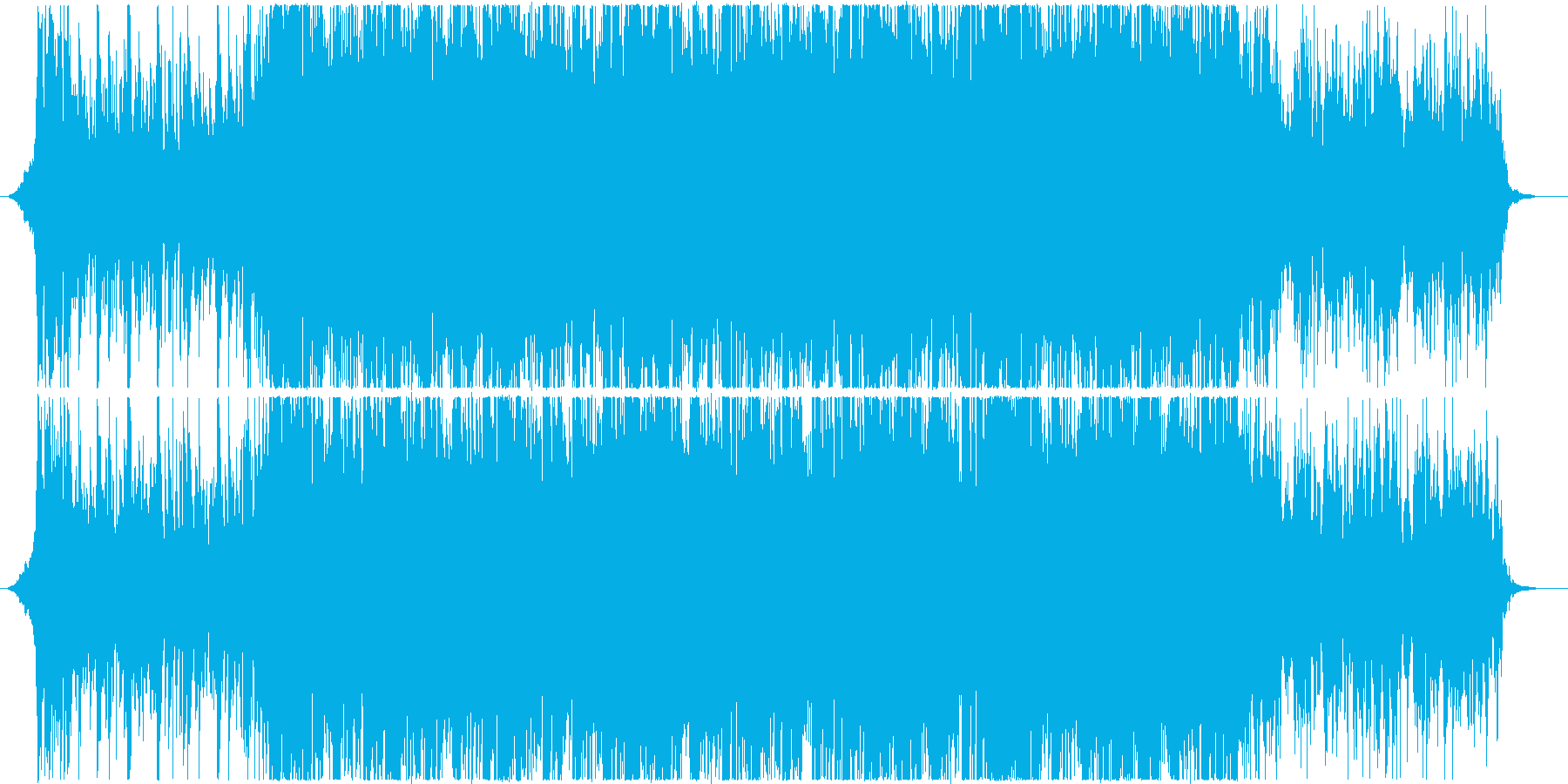 前向きで美しいバイオリンのテクノポップの再生済みの波形