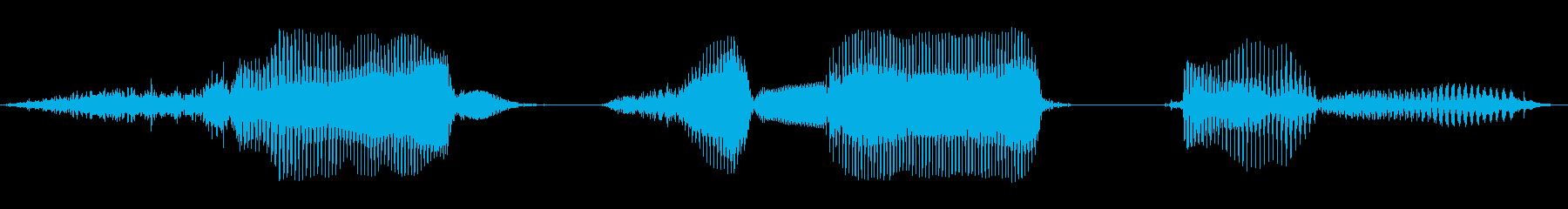 cm(センチメートル)の再生済みの波形