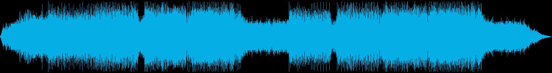 レースゲーム・幻想的で疾走感のあるEDMの再生済みの波形