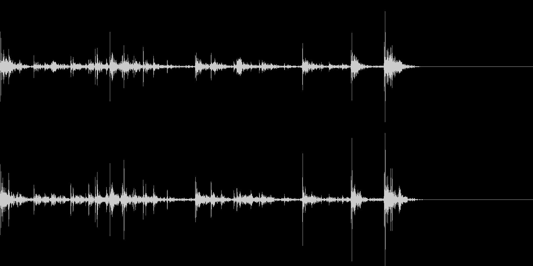 キーボードをタイピングするリアル効果音4の未再生の波形