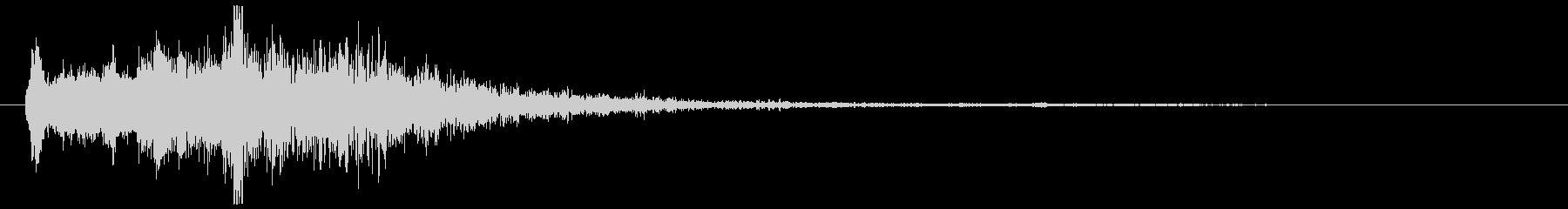 幻想的なシンセコードトーンです。の未再生の波形