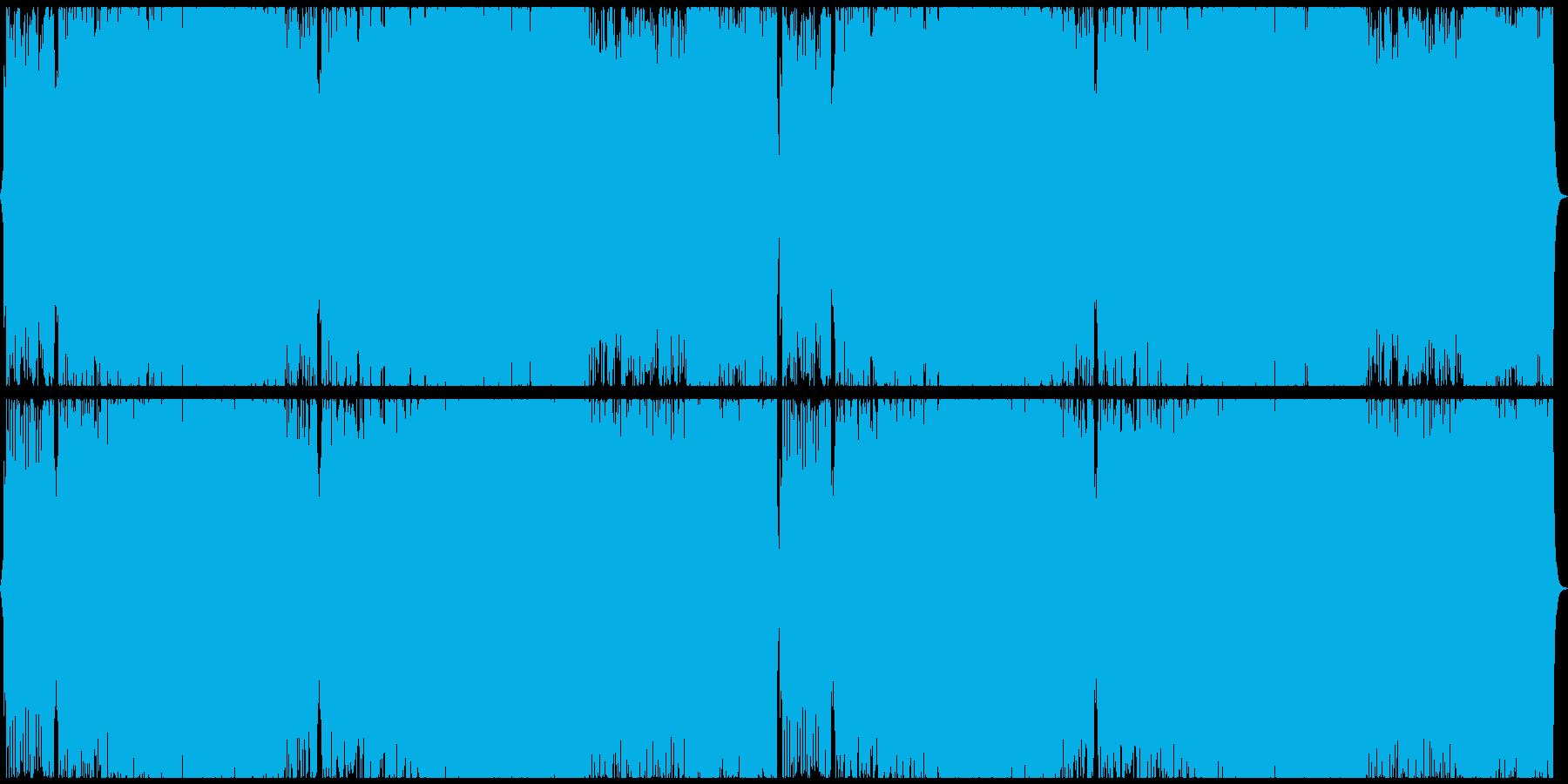 疾走感のあるサイバー戦闘曲の再生済みの波形