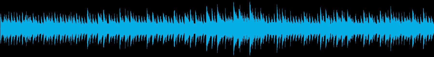 8bit ファンタジー系のループBGMの再生済みの波形