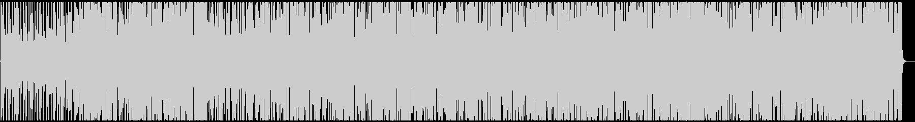 管とスラップベース主体の4つ打ちBGMの未再生の波形