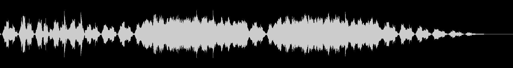 心が落ち着くバックグラウンドミュージックの未再生の波形