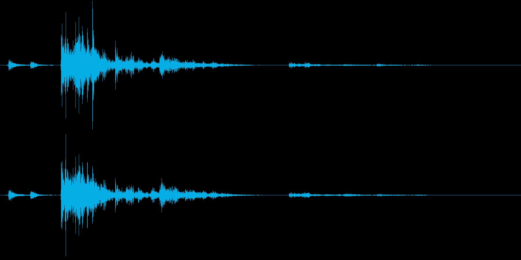 【生録音】ゴミの音 13 投げ捨てるの再生済みの波形