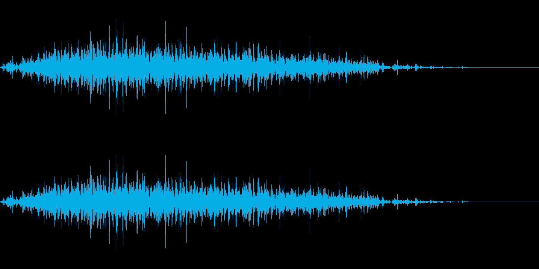 神楽鈴(小)を長くクレッシェンドさせた音の再生済みの波形