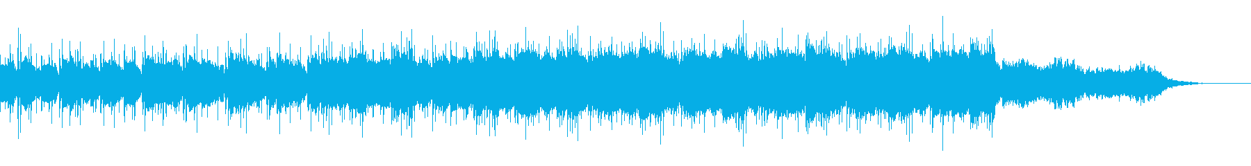 エレキギターでゆったり流れるBGMの再生済みの波形