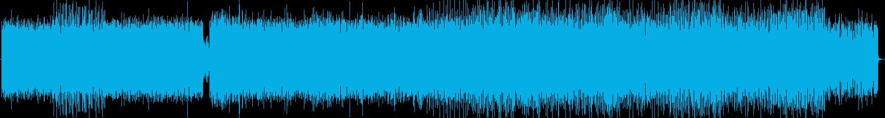 軽快で幻想的なテクノポップの再生済みの波形