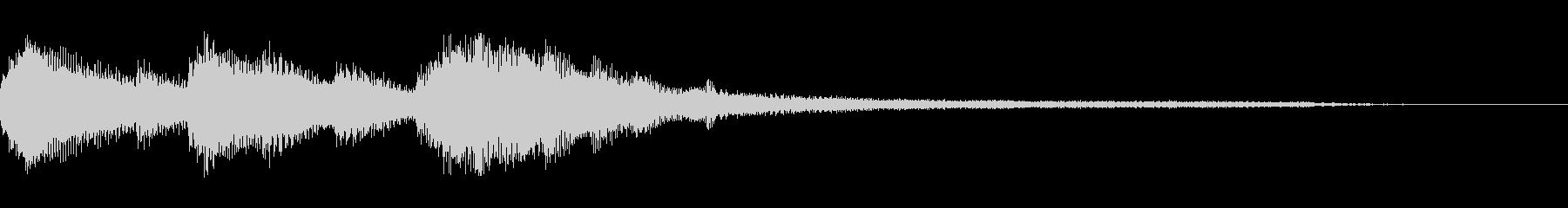 おしゃれなピアノジングル1の未再生の波形