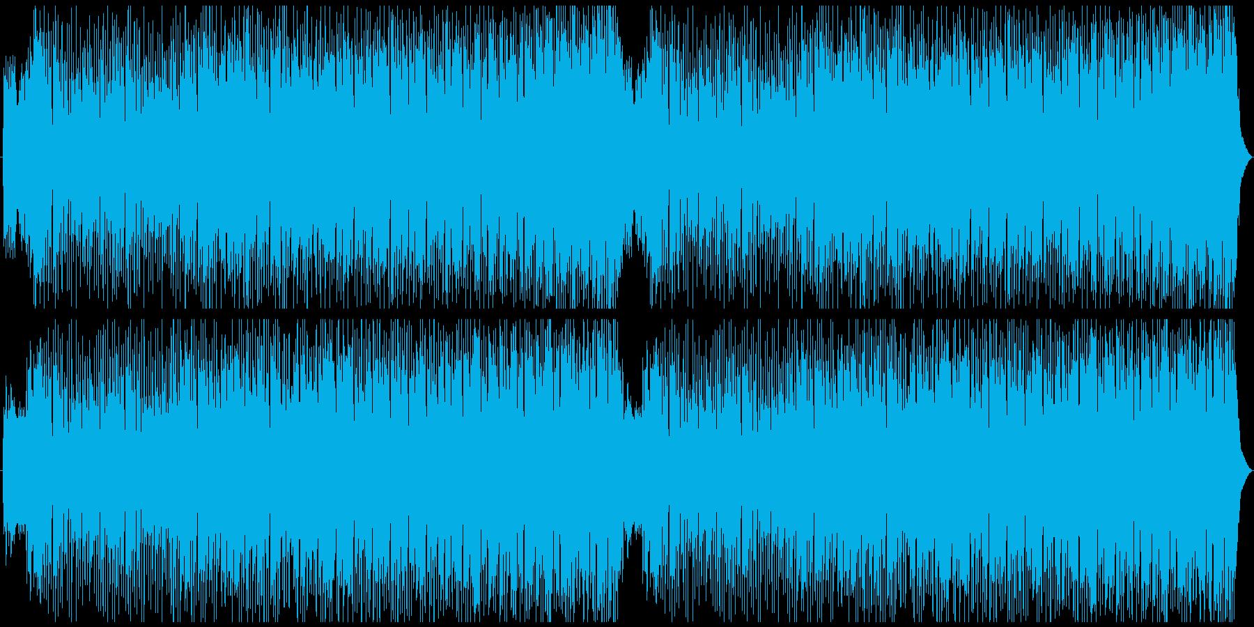 ポップな和風曲の再生済みの波形