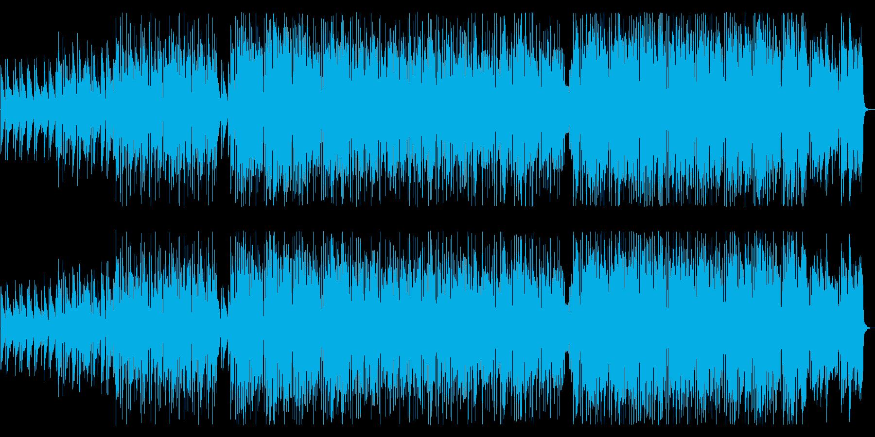 軽快でおしゃれなジャズの再生済みの波形