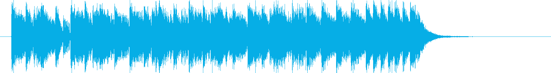 Up-tempo strings music's reproduced waveform