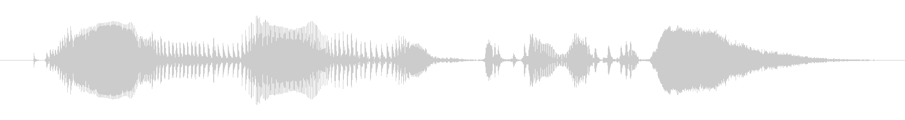 鳴き声 女性のうめき声05の未再生の波形