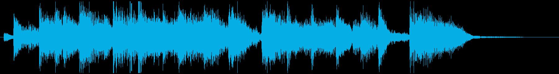 場面転換などにジャズジングル(14)の再生済みの波形