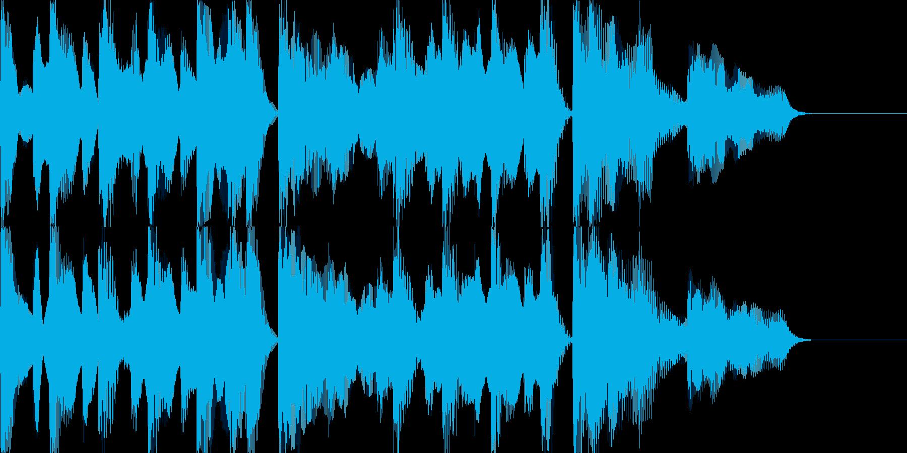 ピアノ 軽快でポップなジングル、ロゴにの再生済みの波形