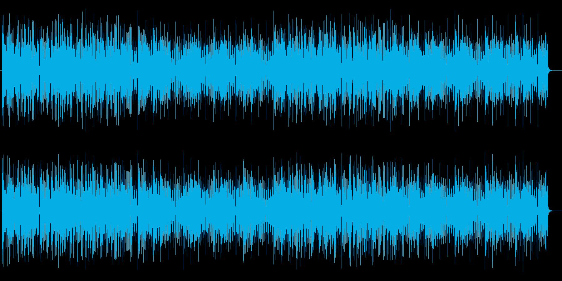 ハイテンポで無機質な明るいポップスの再生済みの波形