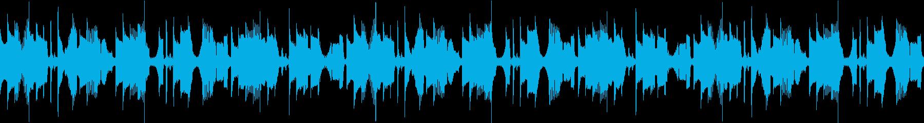 企業VPや映像にシンプルなシンセサウンドの再生済みの波形