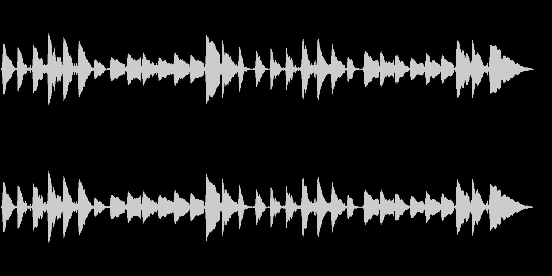 sax一本での切ないメロディーの未再生の波形