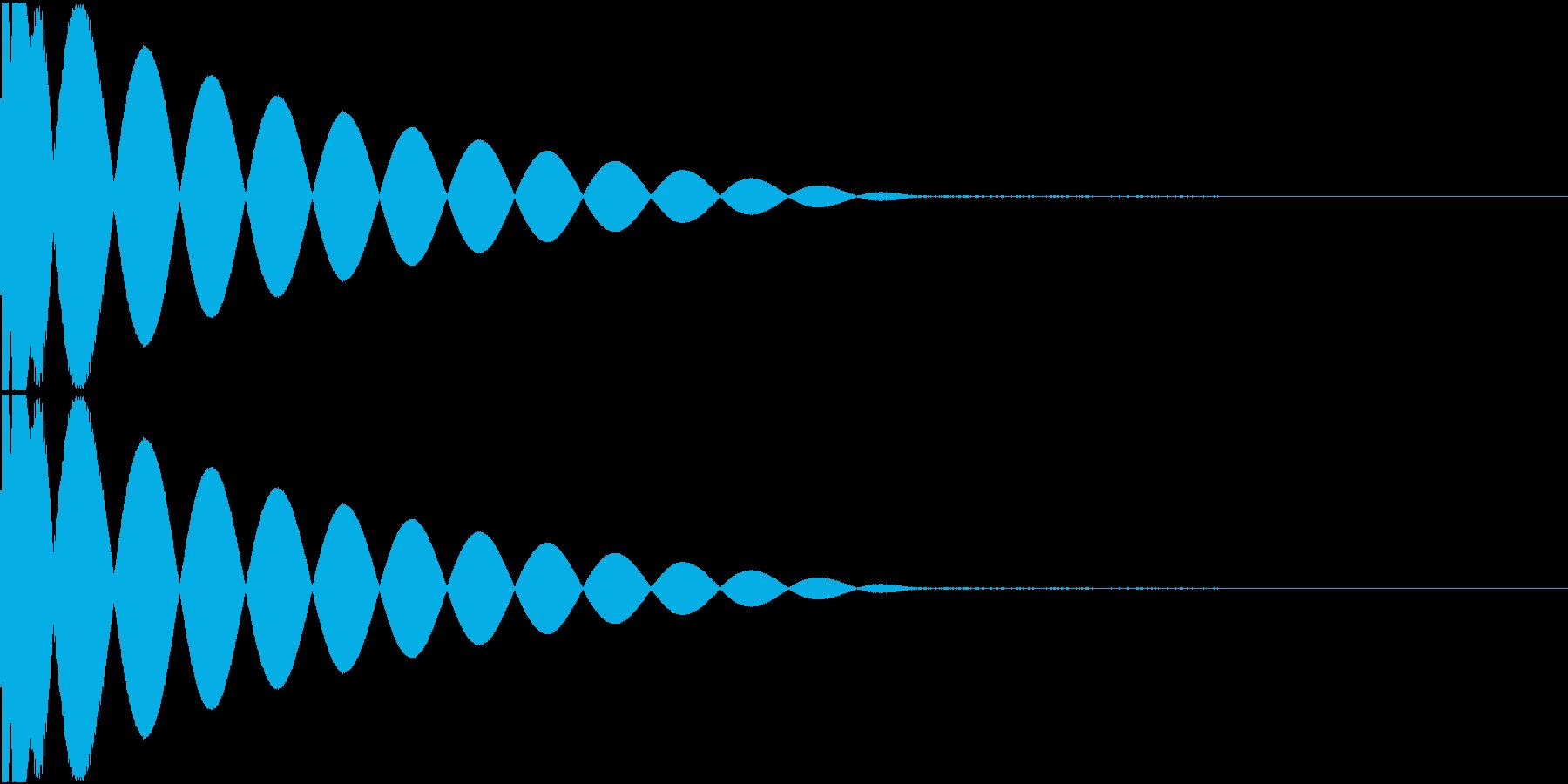 DTM Kick 88 オリジナル音源の再生済みの波形
