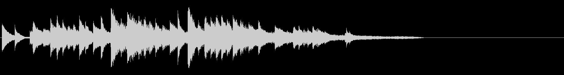 感動系ピアノBGMの未再生の波形
