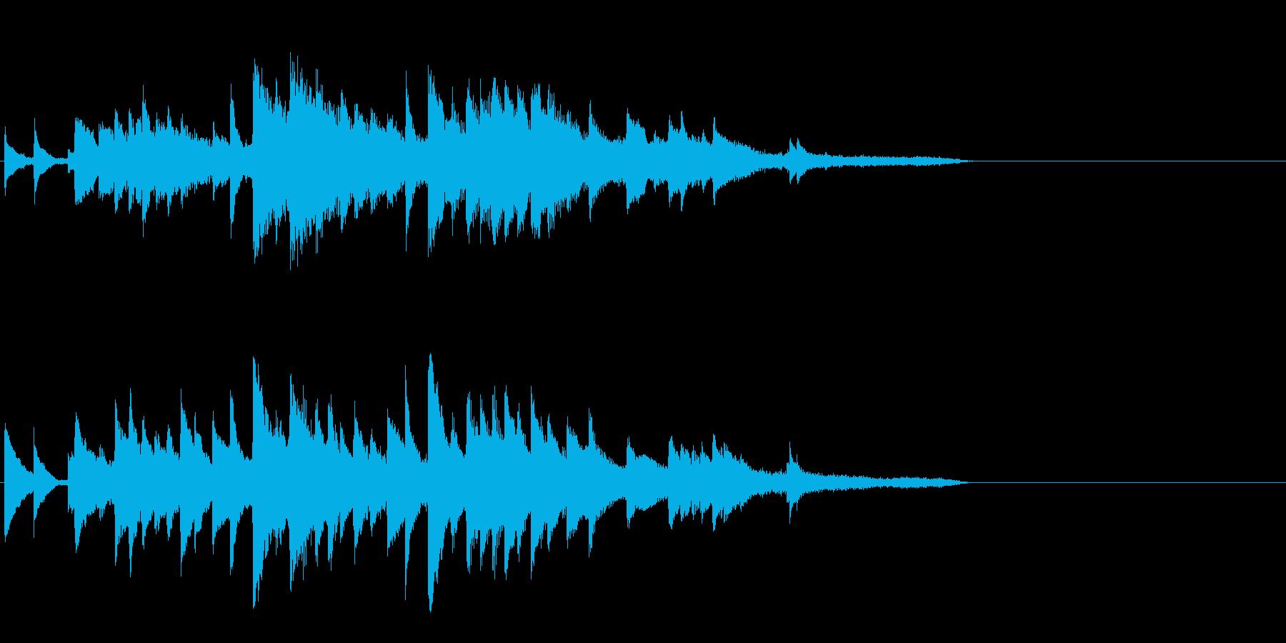 感動系ピアノBGMの再生済みの波形