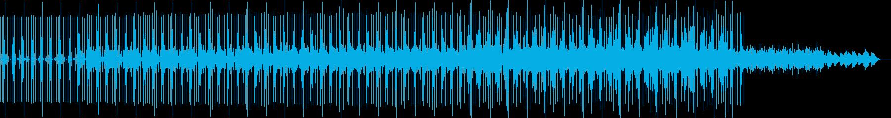 静かな緊迫感のあるミニマルテクノの再生済みの波形
