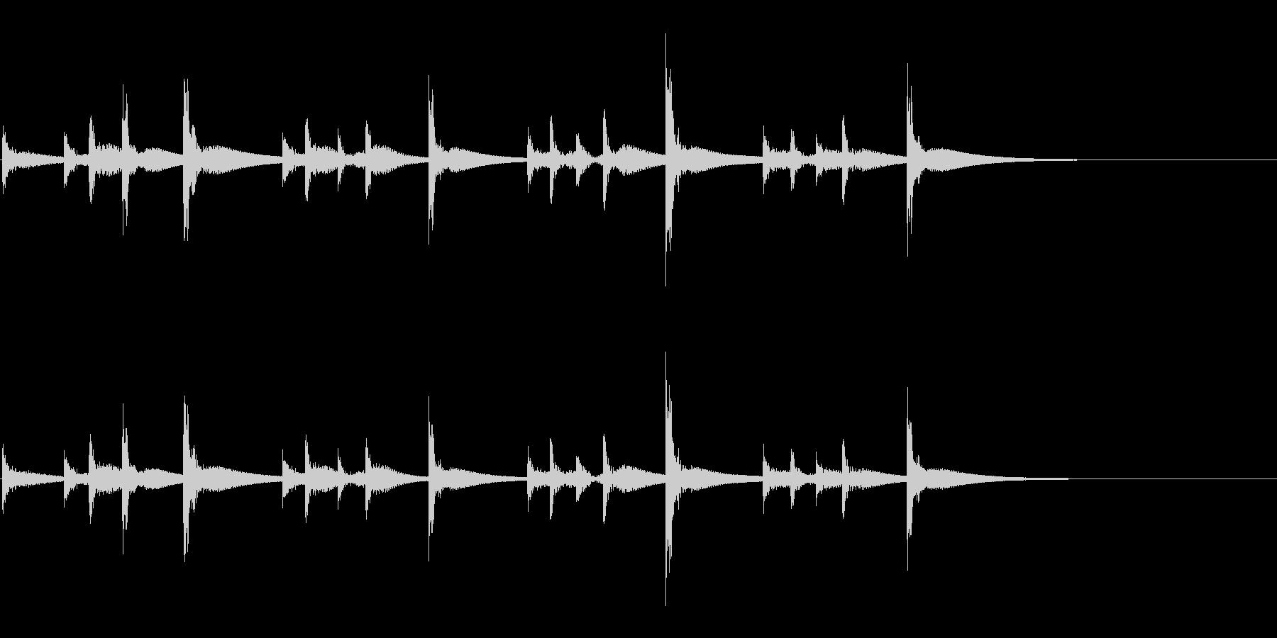 うちわ太皷のリズミカルなフレーズ音の未再生の波形