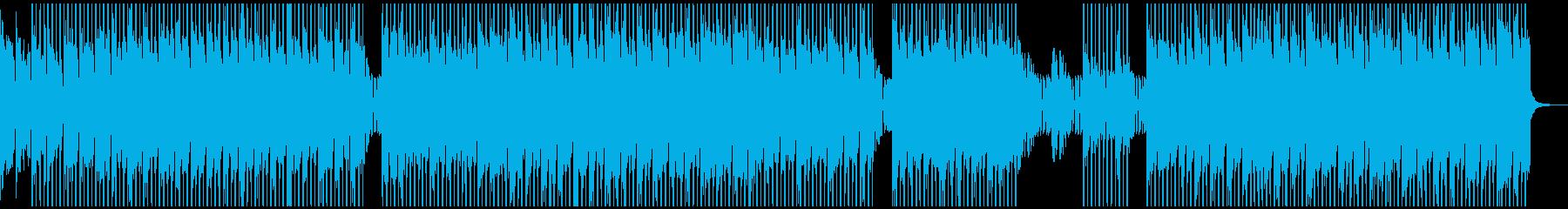 クールな雰囲気のテクノポップの再生済みの波形