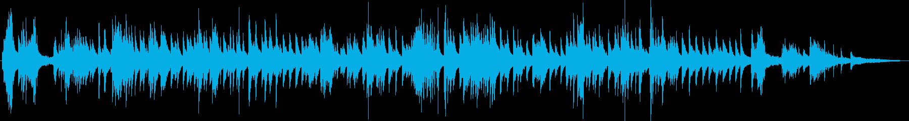 優雅で美しいソフトジャズピアノの再生済みの波形