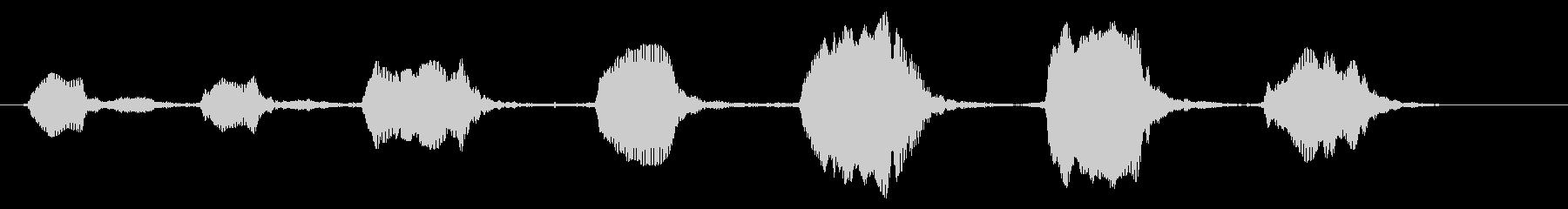 ベイビー:トーキングまたはリアクションの未再生の波形