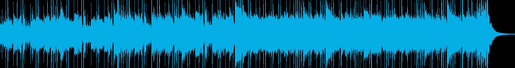 少しだけ緊張感のあるロックジングルの再生済みの波形