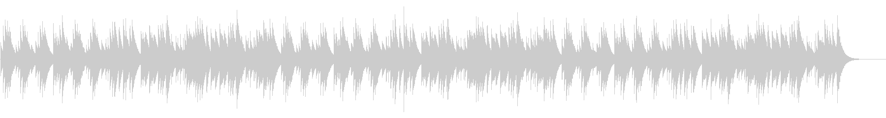 ジングルベル カード式オルゴールの未再生の波形