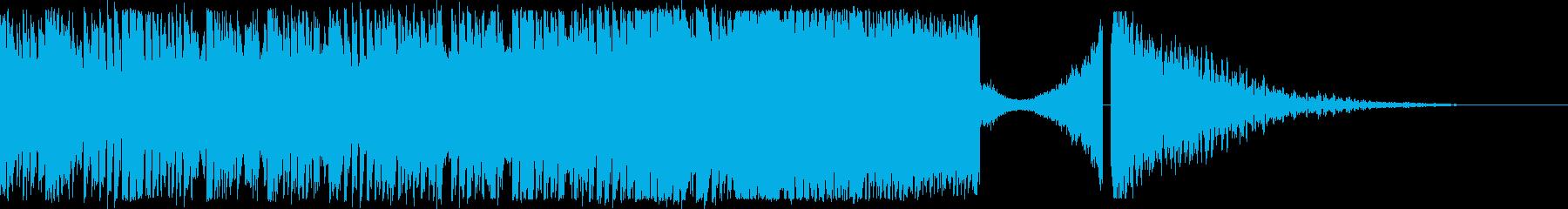 EDMの煽りからのオケヒット!の再生済みの波形