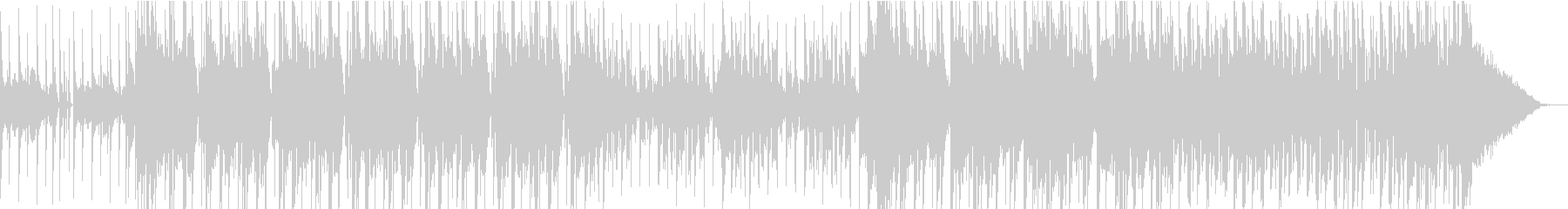 荒々しいエレクトロニカの未再生の波形