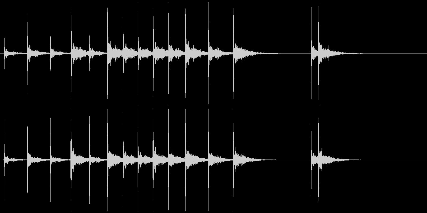 歌舞伎の立ち回り登場の付け打ちフレーズ音の未再生の波形