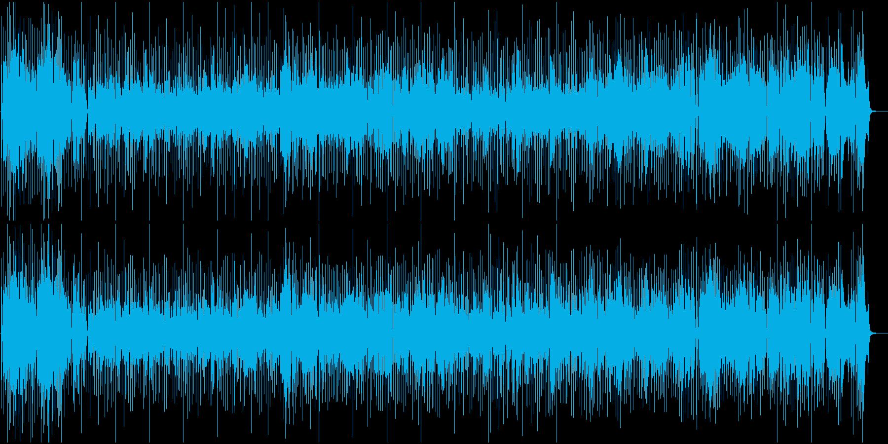 クラリネット生演奏のシャッフル系の再生済みの波形