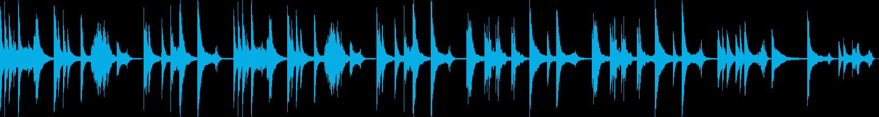 テクスチャーアイス癒しピアノリラックスの再生済みの波形