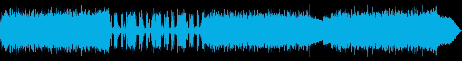 メタルバンド風BGMの再生済みの波形
