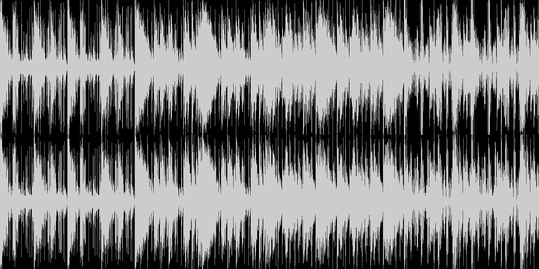 ダンジョン等の緊迫した状況に適したBGMの未再生の波形