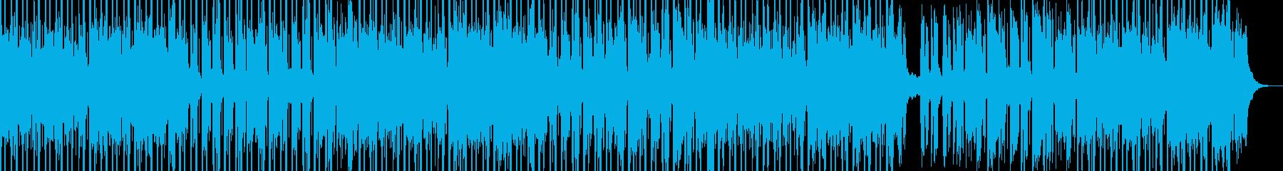 神秘的な民族音楽風BGMの再生済みの波形