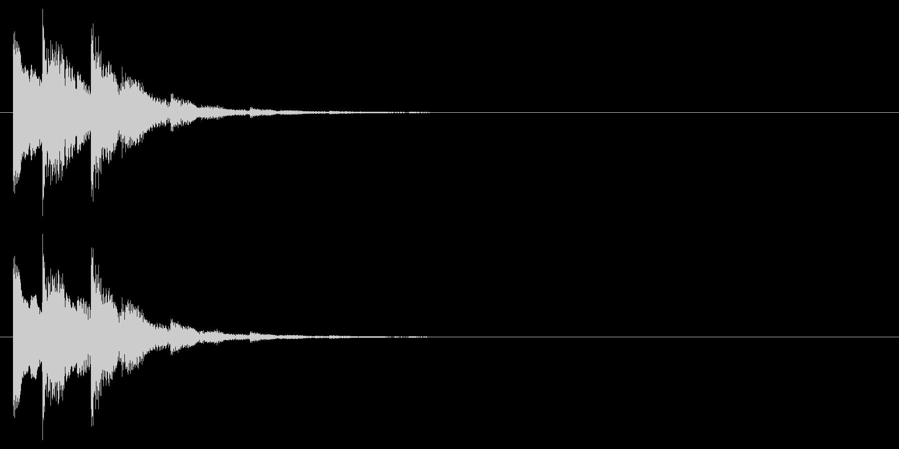 シンプルな下降系決定音_1(タララン↓)の未再生の波形