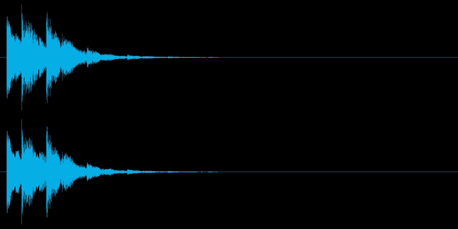 シンプルな下降系決定音_1(タララン↓)の再生済みの波形