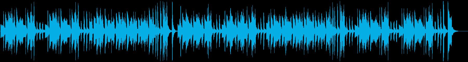 ほのぼの・可愛らしいエレピ・マリンバの再生済みの波形