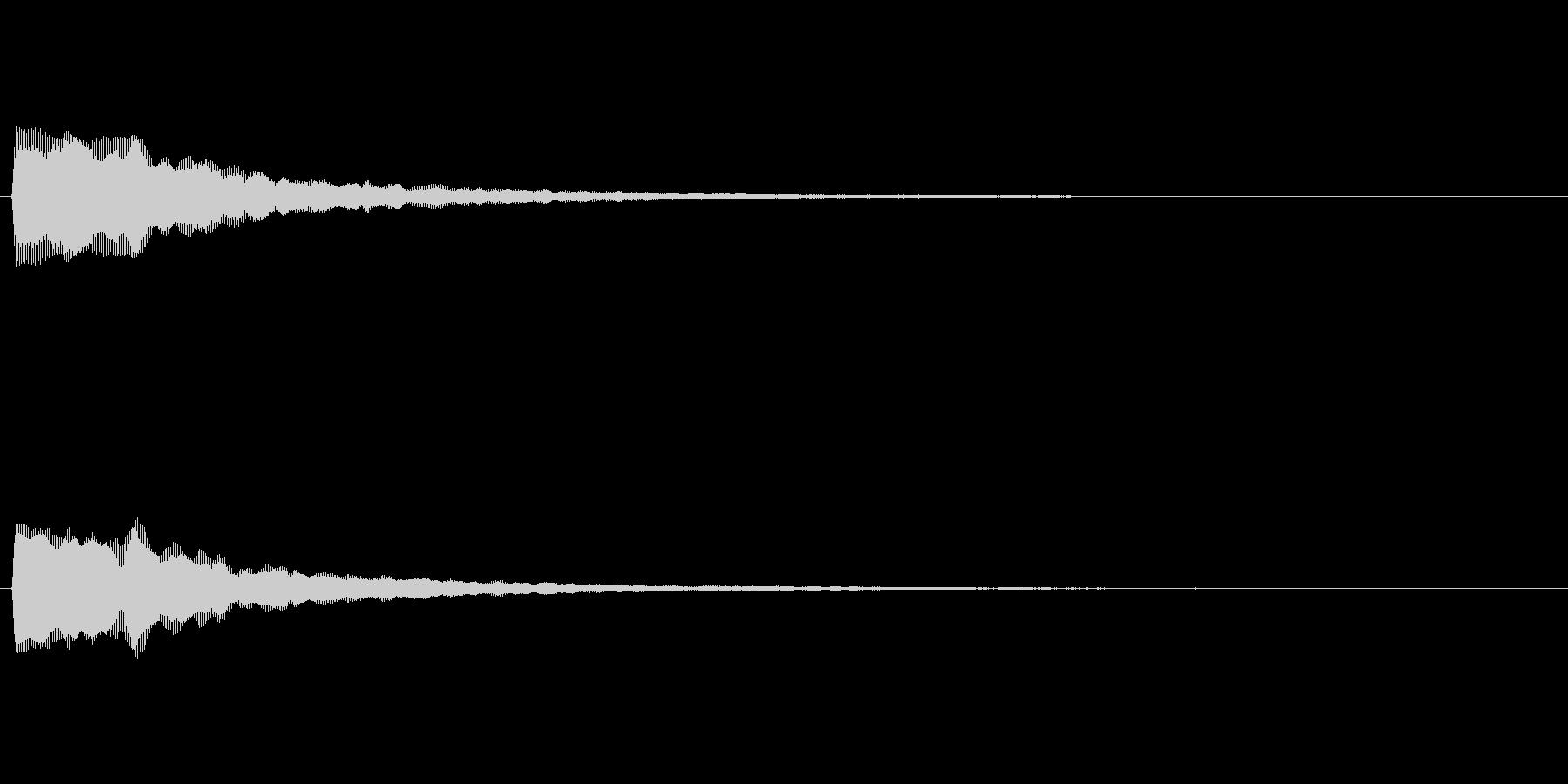 カーソル移動音 マウスオーバー等を想定の未再生の波形
