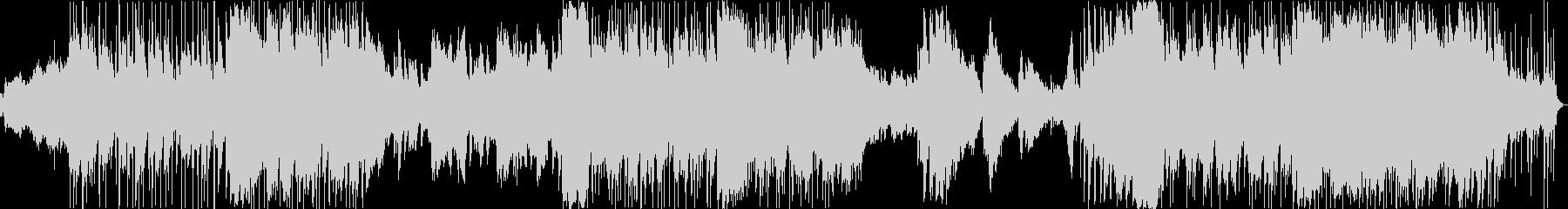 尺八の生演奏によるドラマティックサウンドの未再生の波形