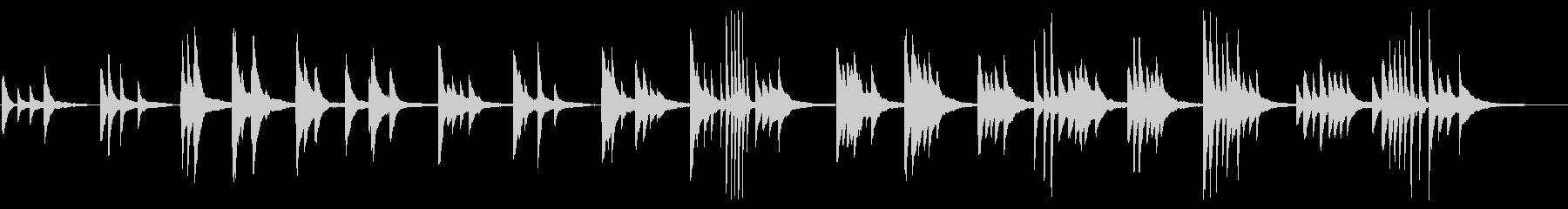 優しく穏やかなピアノのバラードの未再生の波形
