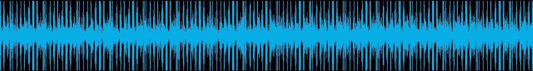 不気味なBGMの再生済みの波形