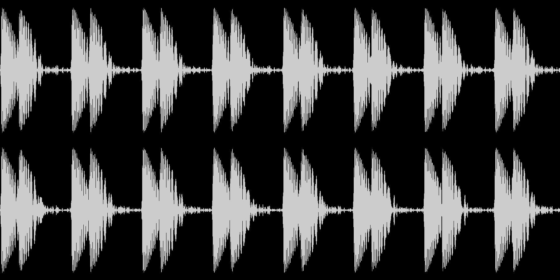 ドクン/心臓/心拍数の未再生の波形